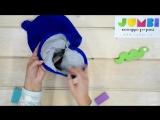 Обзор зимнего шлема для девочек с ушками василькового цвета #Jumbi