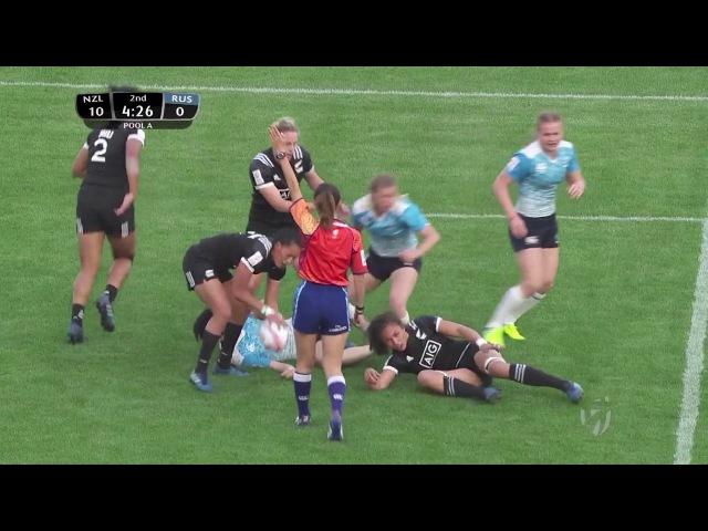 Womens 7s Kitakyushu 2017 Russia vs New Zealand