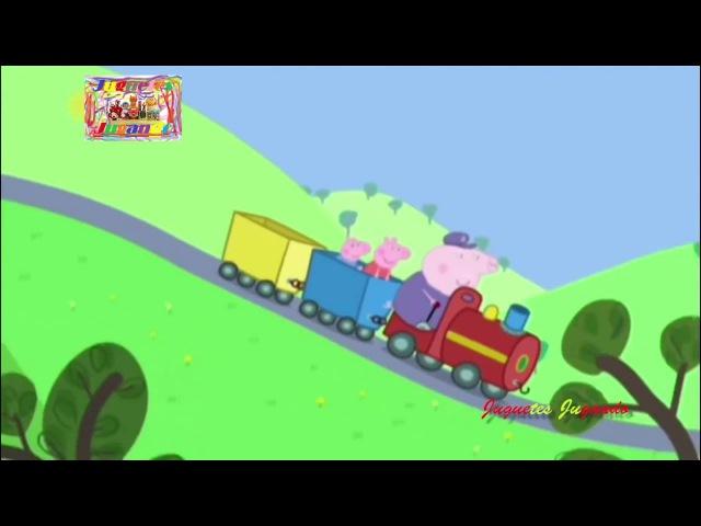 Peppa Pig Song the Wheel on the Bus version Grandpa Little Train Nursery Rhymes