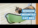 Window Mounted Cat Bed Gives Your Kitty a Great View While They Lounge