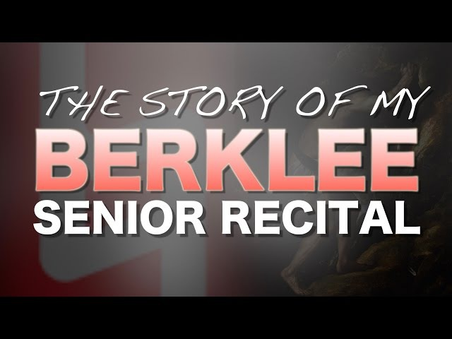 My Berklee senior recital