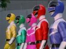 Power Rangers Time Force First Morph and Fight
