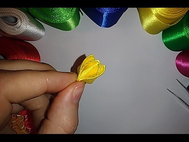 Лепесток для цветов из атласных лент Канзаши мастер класс