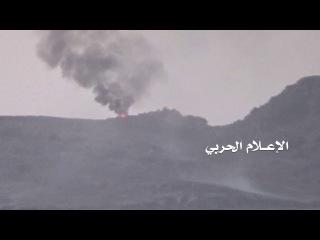 إحراق مدرعة للمنافقين في وادي ملح بنهم [HD]