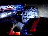 Traxxas RC weekend - Driving E Revo and Nito Sport. Night bashing.