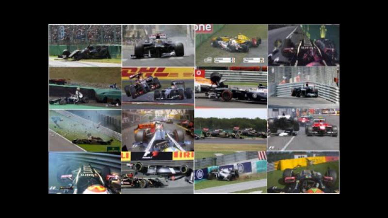 Pastor Maldonado Crash Compilation
