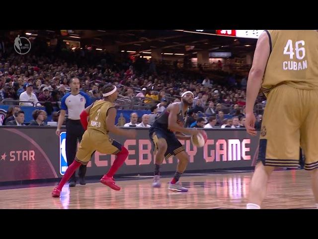 Brandon Armstrong Long Eurostep - 2017 NBA All-Star Celebrity Game - February 17, 2017