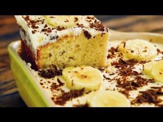 🍌Банановый торт с масляным кремом🍌