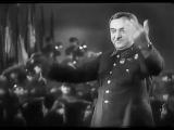 А.А. Александров дирижирует исполнением песни Несокрушимая и легендарная 23 февраля 1943