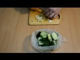 Малосольные (маринованные) огурцы быстро, за полчаса, самый простой и лёгкий рецепт