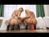 Blanche Bradburry &amp Nikky Dream - those two blondy bitches discover black sensation 2017 г., Anal, Gonzo, 720p