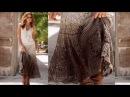 Длинная юбка крючком. long skirt crochet.Обзор готовой работы