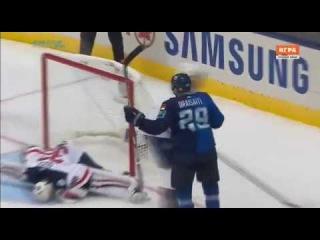 Leon Draisaitl GOAL. USA 0-2 Team Europe (17/09/2016. World Cup of Hockey 2016)
