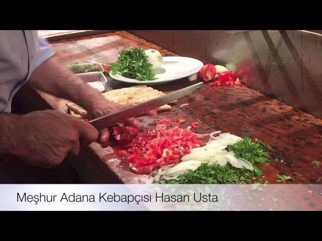 Adananın ünlü kebapçısı Hasan Ustadan kebap şov