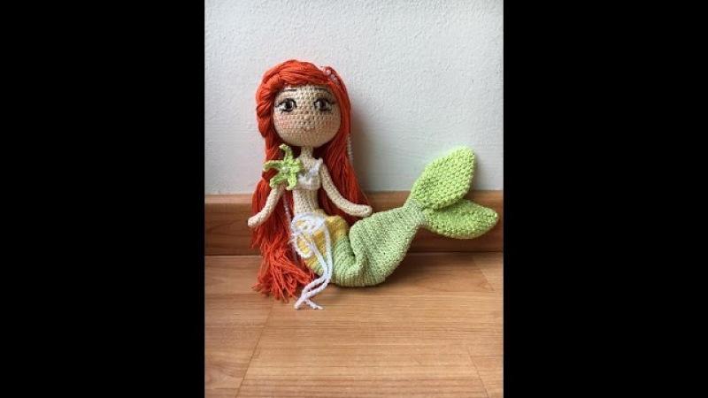 Como tejer cuerpo muñeca Sirenita amigurumi By Petus SEGUNDA PARTE 2/7