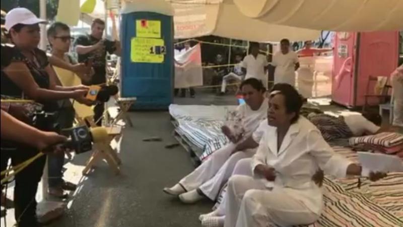 Chiapas Enfermeras en huelga de hambre en defensa del derecho social a una salud digna, publica, de calidad