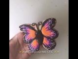 Очень красивая бабочка на прянике-печенье!