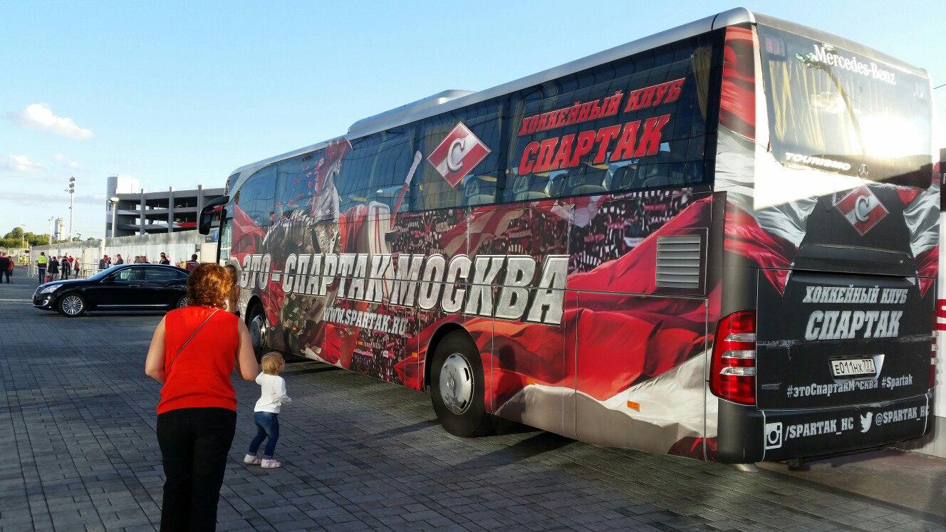 автобус ХК Спартак Москва