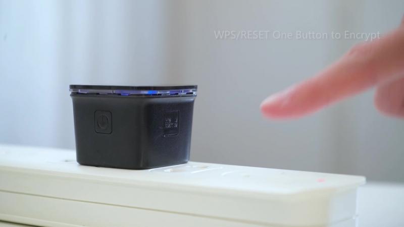 Wavlink N300 Range ExtenderCompact Size Wireless Access PointSignal Booster With 2×3dBi Internal Antennas WPS Button.