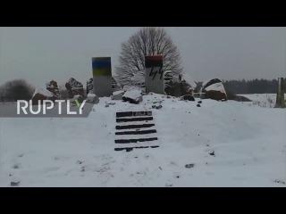 Украина: Второй Мировой Войны мемориал в честь Польских жертв вандализма во Львове.