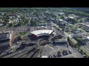 DJI Inspire 1 Drone over Cumberland, Maryland CSX Train Roundhouse 4k