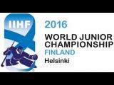 Russia vs USA 2 1 2016 IIHF World Junior Championship