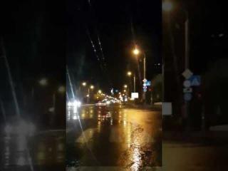 Дорожный знак замкнул электропровода (07.05.2071)