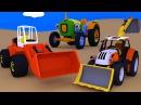 Развивающие мультфильмы. Сборник. Трактора и Экскаваторы. Рабочие машины. Мультики про машинки.