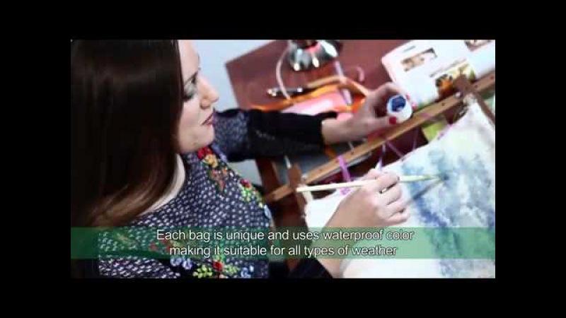 Come nascono le borse ricamate di Katerina Kouzmina. Линия сумок из кожи от Катерины Кузьминой.