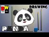 Как нарисовать медведя ПАНДУ поэтапно карандашом по клеточкам  Bear PANDA drawing with pencil.