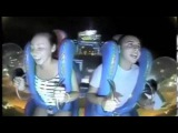 Guy Passes Out Twice On Slingshot Ride