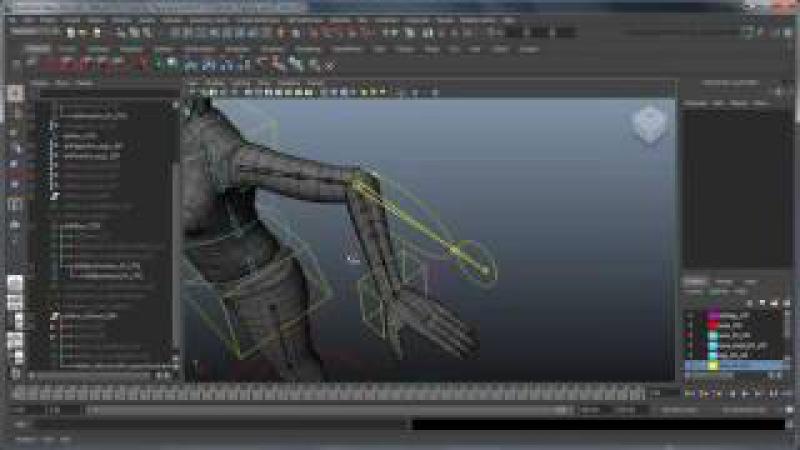 CGI 3D Tutorials : Creating a Character Rig Part 25 IK FK Hybrid Elbow