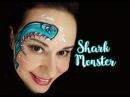 Shark Monster Face Painting Tutorial