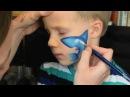 Cute Kids Painting on Face ( Shark vs. Dolphin )