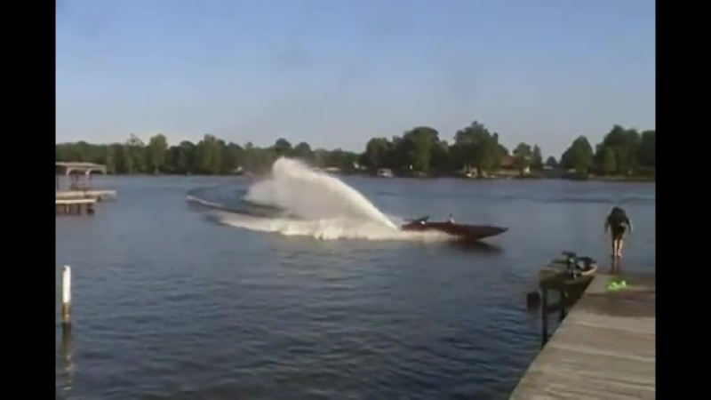 JET BOAT FORD 460,rooster tail