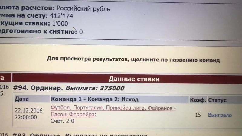 Отчёт по платному ТС с КФ 15 (22/12.16)