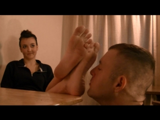 Tracey denied retard slave foot worship smelling fetish feet smother domination trample