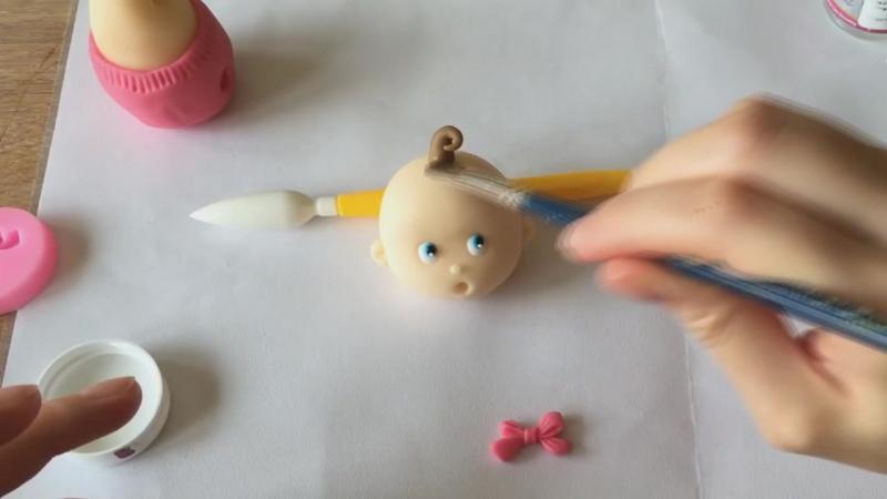 Как сделать пупса из мастики