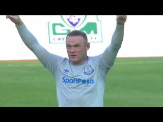 Первый гол Руни за Эвертон после возвращения