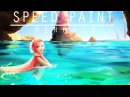 Speed paint Mermaid Paint tool sai Lulybot