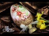 Decoupage Tutorial Easter Egg with Clay Shell - DIY