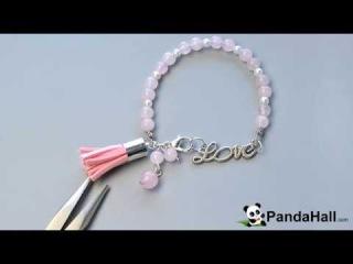 LC 28. Pandahall Мастер-Класс - Браслет из розового кварца