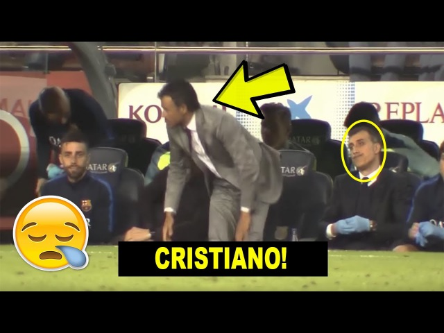 Barcelona Reactions from the bench to Ronaldo's goal Real Madrid vs Malaga