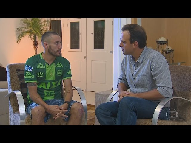 Fantastico entrevista Alan Ruschel e Follmann da Chapecoense 18/12/2016 HD