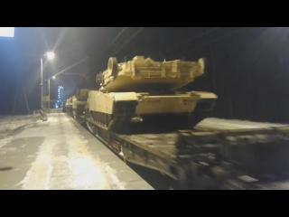 Эшелон ВС США в Польше/Echelon US armed forces in Poland
