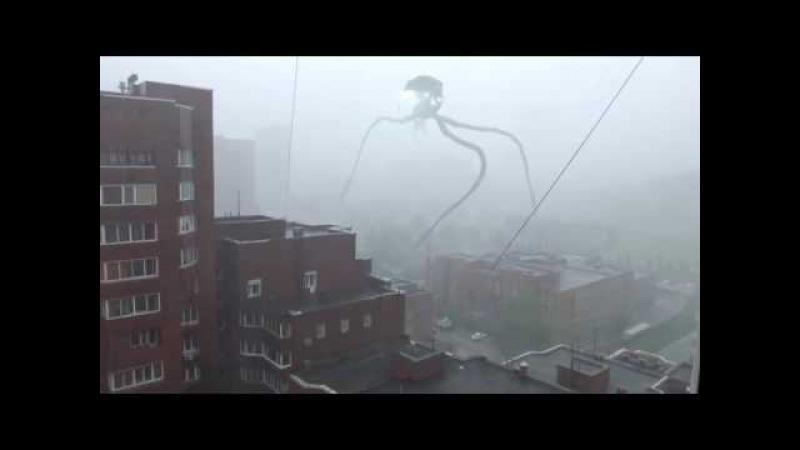 Сирена и трипод в Новосибирске