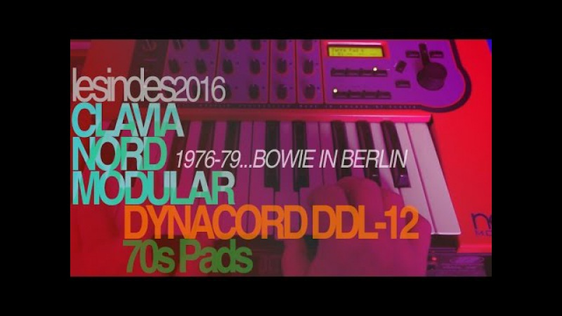 DYNACORD DDL-12 CLAVIA NORD MODULAR for 70s PADS BOWIE BERLIN YEARS