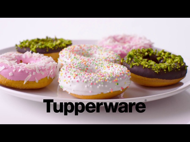 Tupperware - Recipe video - Donuts with Chocolate Frosting with Silicone Baking Form Rings