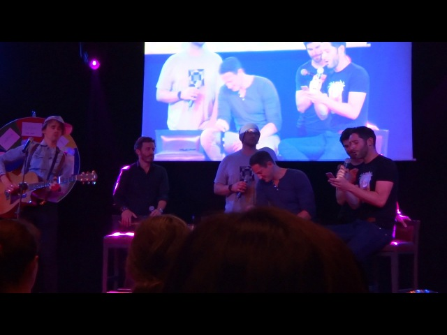 Jbland 2 Singing Hallelujah -- Jason, Rob, Reeve Carney, Sasha Roiz, Tom Ellis and D