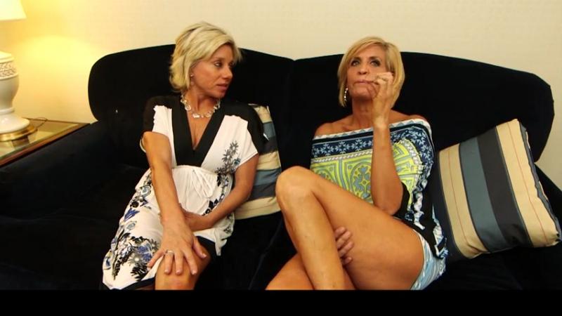 Сын трахнул маму и её сестру, ЖМЖ granny mature old busty woman threesome group sex